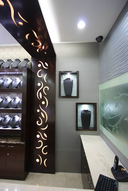 Ansari architects interior designers chennai for Jewellery showroom interior design images