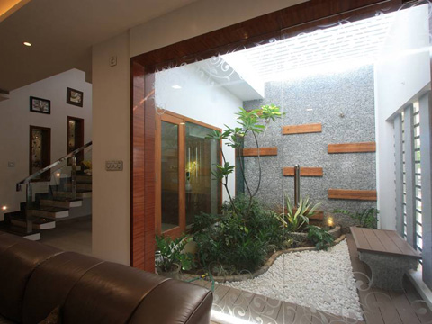 Ansari architects interior designers chennai for Courtyard houses design ideas