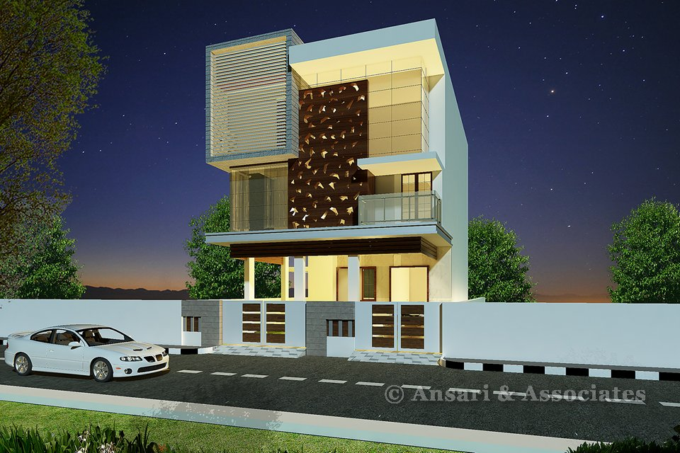 Ansari architects interior designers chennai House architecture chennai