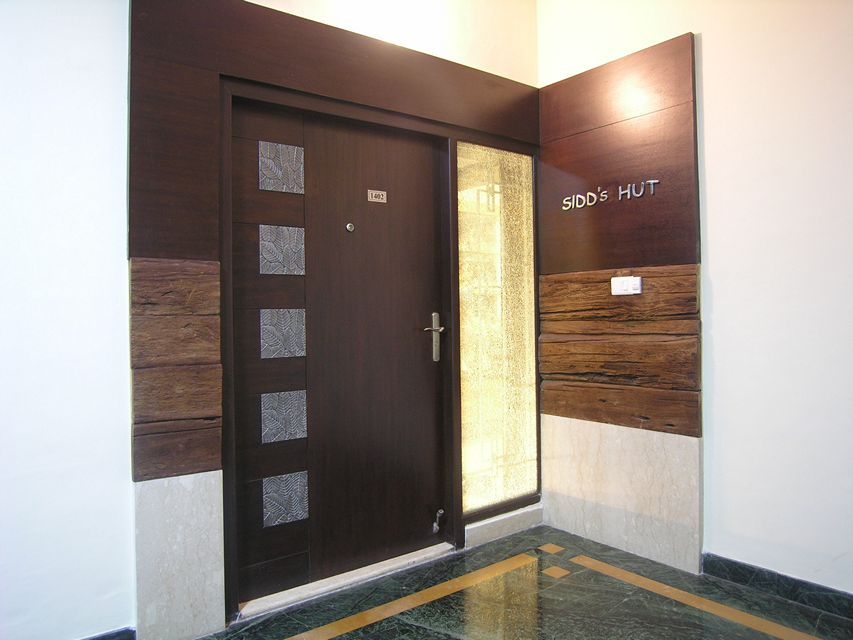 House in 14th floor ansari architects chennai for Door design with net