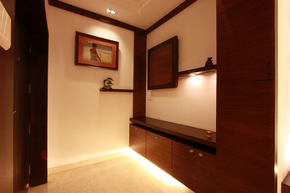 House in 14th floor ansari architects chennai for Foyer seating area ideas