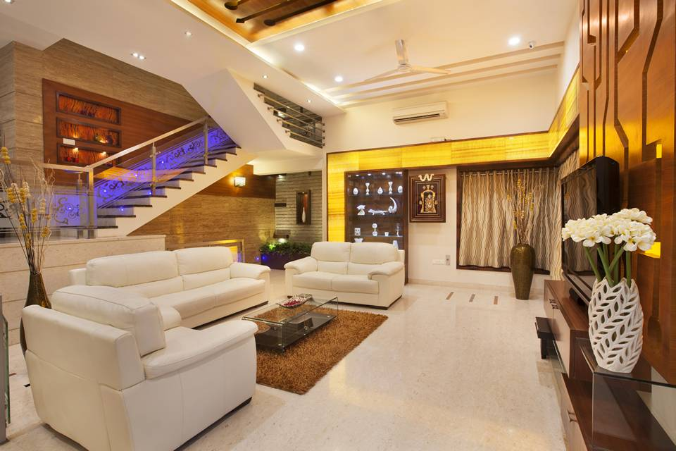 stunning award winning living room interiors | Award Winning House at KK Nagar Chennai, Designed by ...
