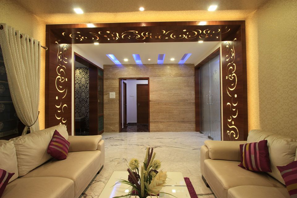 The ethnic house at mugappair chennai is famous for its for Interior design for living room chennai