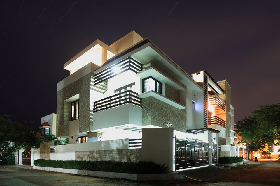The corner house palawakkam chennai is an unique house House architecture chennai