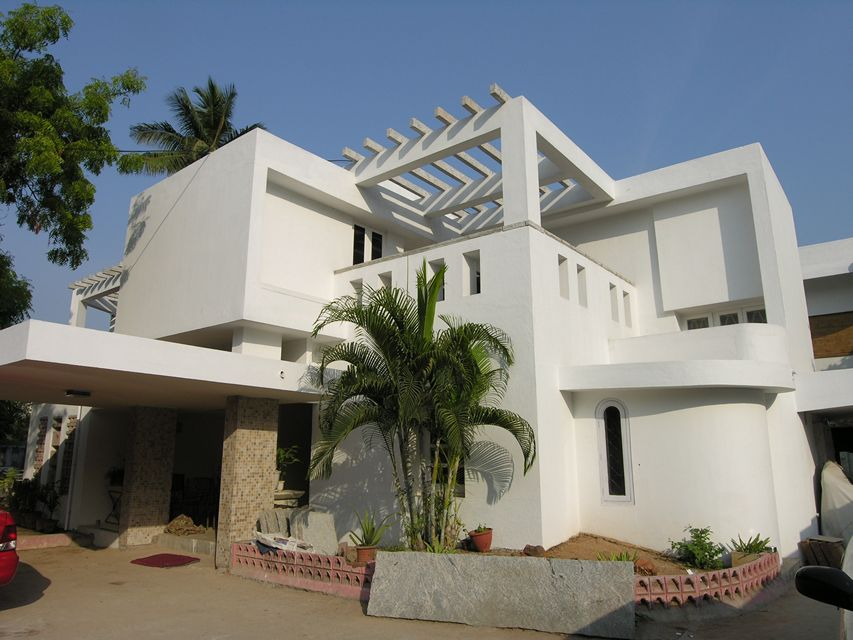 Stone courtyard house ansari architects chennai House architecture chennai
